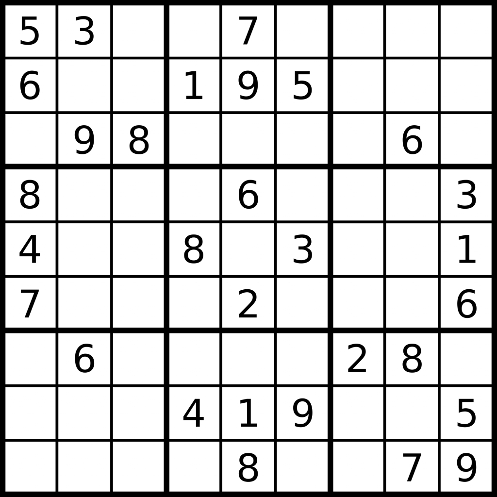 1 Million Sudoku Games | Kaggle | Zigzag Sudoku Printable Download