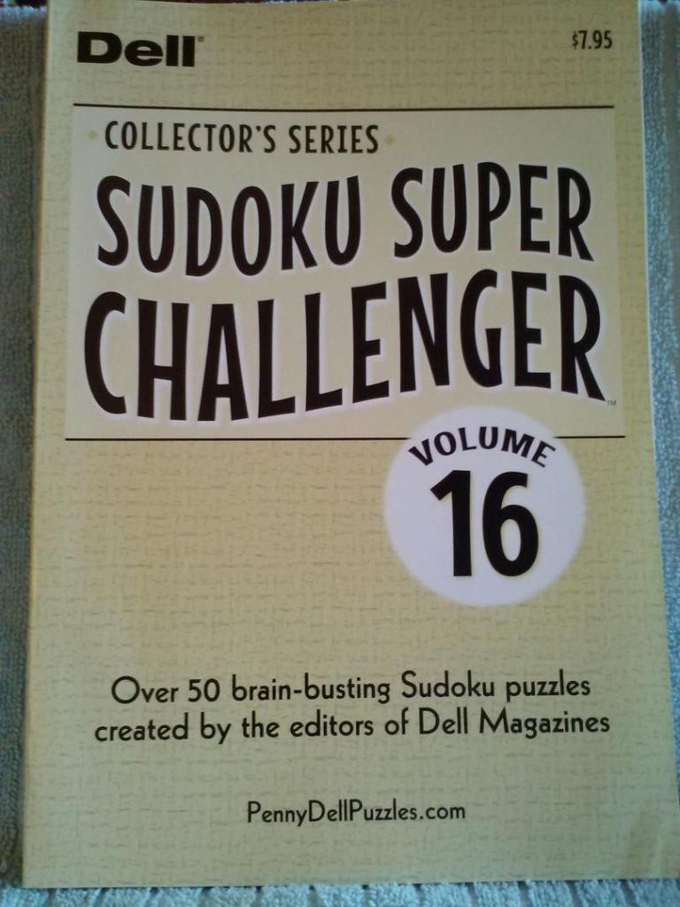 2 Sudoku Super Challenger 16 Grid Puzzle Books-106 Puzzles-Collector | Printable Sudoku Super Challenger