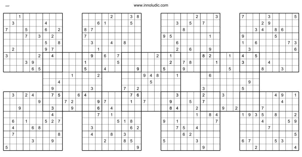 25X25 Sudoku Puzzles With Answers | Www.topsimages | Printable 25X25 Sudoku Puzzles