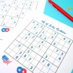 4Th Of July Printable Sudoku Puzzles + Logic Puzzle   Happiness Is | Printable Sudoku 4