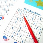 4Th Of July Printable Sudoku Puzzles + Logic Puzzle   Happiness Is | Printable Sudoku Memory