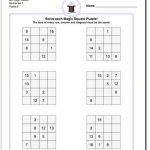 4X4 Magic Square Normal Set 1 Worksheet #magic #square #worksheet | Printable Sudoku For Ks2