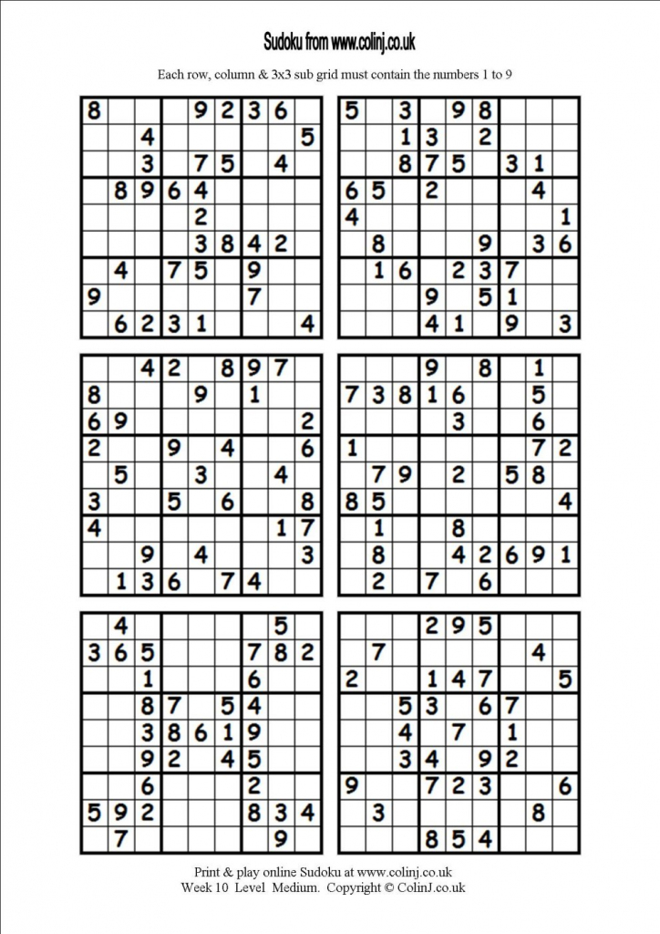 6 Printable Sudoku 4 Printable Sudoku Per Page 4 Best Images Of | Free Printable Sudoku 4 To A Page