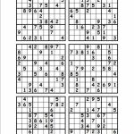 6 Printable Sudoku 4 Printable Sudoku Per Page 4 Best Images Of | Hard Printable Sudoku 4 Per Page