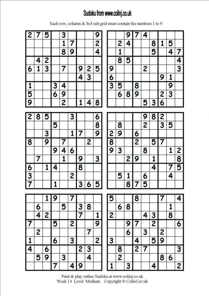 6 Printable Sudoku Printable Sudoku Hard Level 6 Per Page Puzzles | 1-6 Sudoku Printable