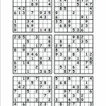 6 Printable Sudoku Printable Sudoku Hard Level 6 Per Page Puzzles | Printable Sudoku Hard 1 Per Page