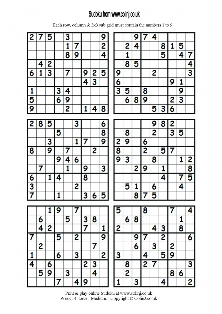 6 Printable Sudoku Printable Sudoku Hard Level 6 Per Page Puzzles | Printable Sudoku Level Hard 6 Per Page
