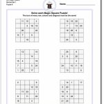 6X6 Magic Square Normal Set 1 Worksheet #magic #square #worksheet | Sudoku Printable Tes