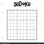 9 X 9 Blank Sudoku Game Stock Vector (Royalty Free) 795970357 | Printable Sudoku Blank Grids