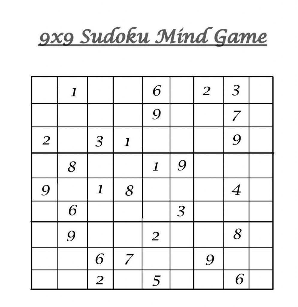9X9 Sudoku 5 | Printable Sudoku 6 X 6 Pdf