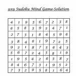 9X9 Sudoku 5   Solution | 9 X 9 Sudoku Printable