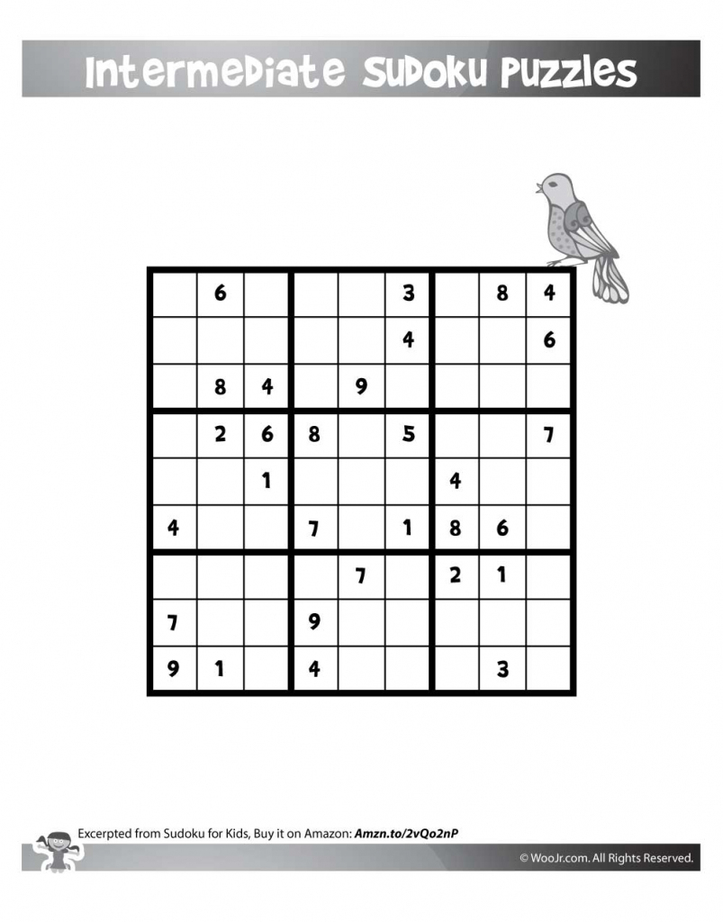 9X9 Sudoku For Kids | Woo! Jr. Kids Activities | 9 X 9 Sudoku Printable