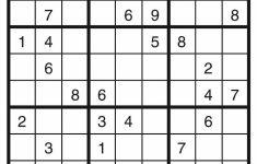 Free Printable Sudoku 9X9