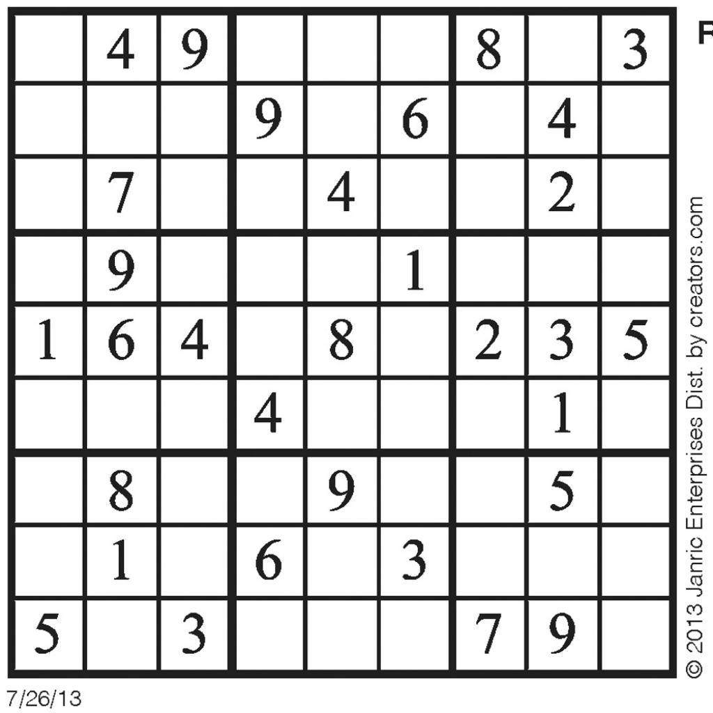 About 'sudoku Daily'|Daily Sudoku – 3/31/09 ~ Tory Kost's Blog | Daily Sudoku Printable Version