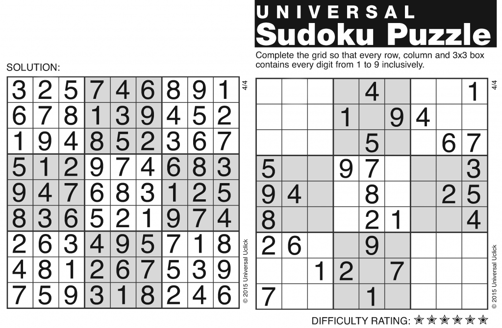 Andrews Mcmeel Syndication - Home | Printable Sudoku And Solutions