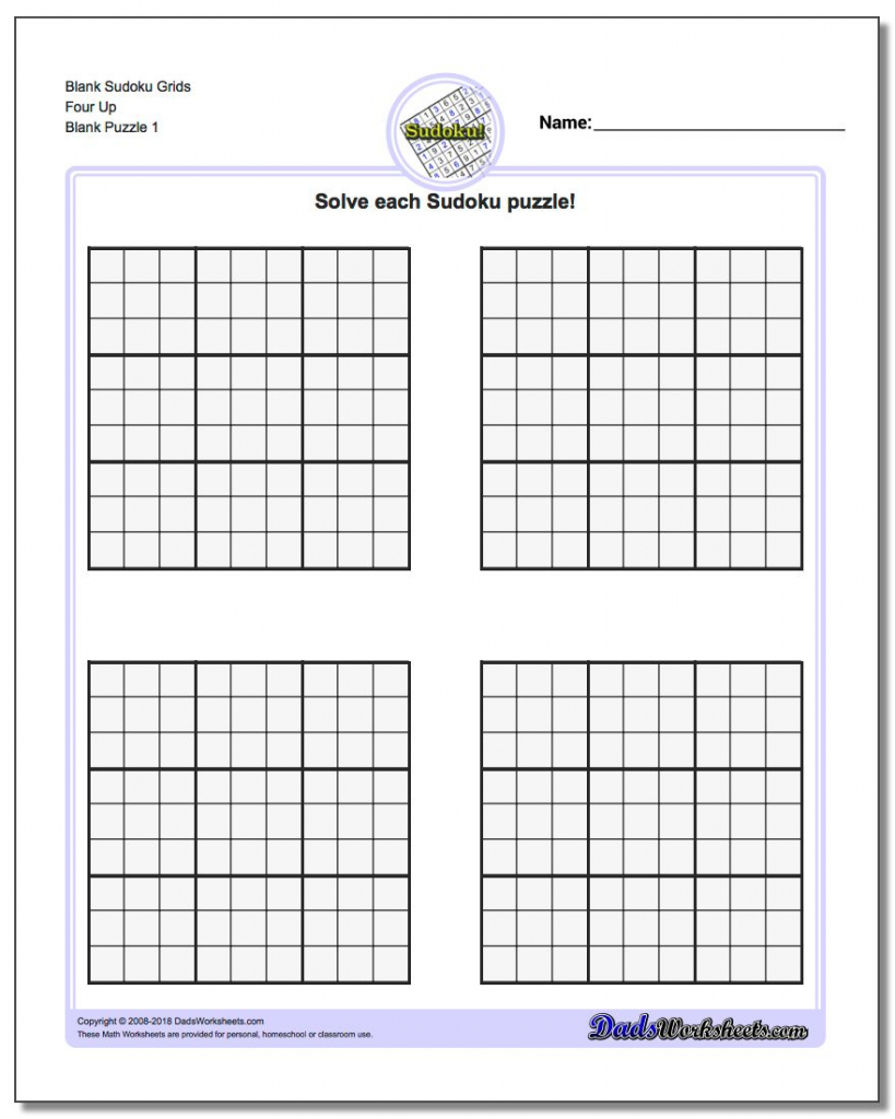 Blank Printable Sudoku Grids | Shop Fresh | Printable Sudoku Sheets Blank