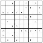 Blank Sudoku   Canas.bergdorfbib.co | Printable Sudoku Baby Shower Free