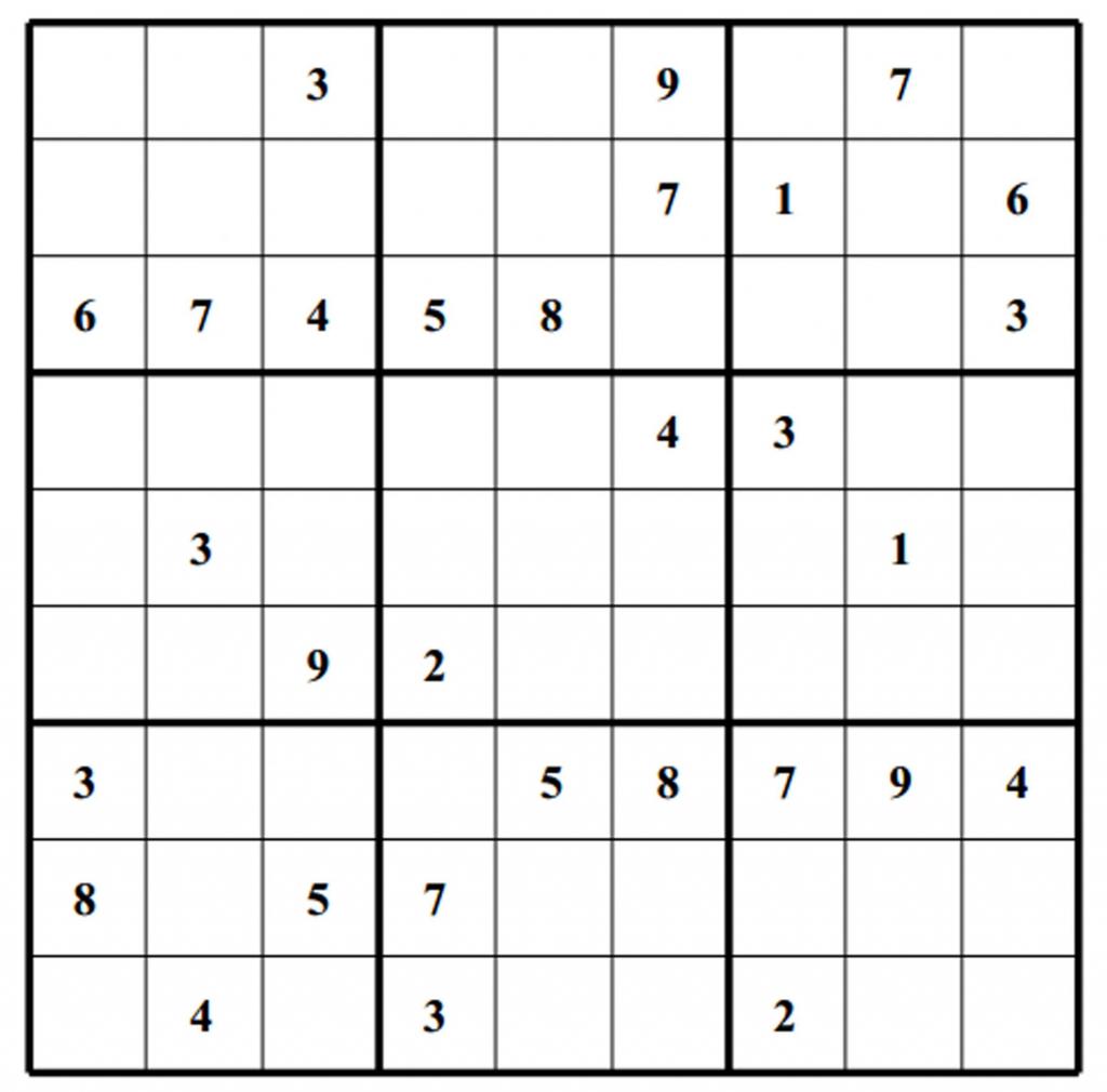 Blank Sudoku - Canas.bergdorfbib.co | Printable Sudoku Baby Shower Free