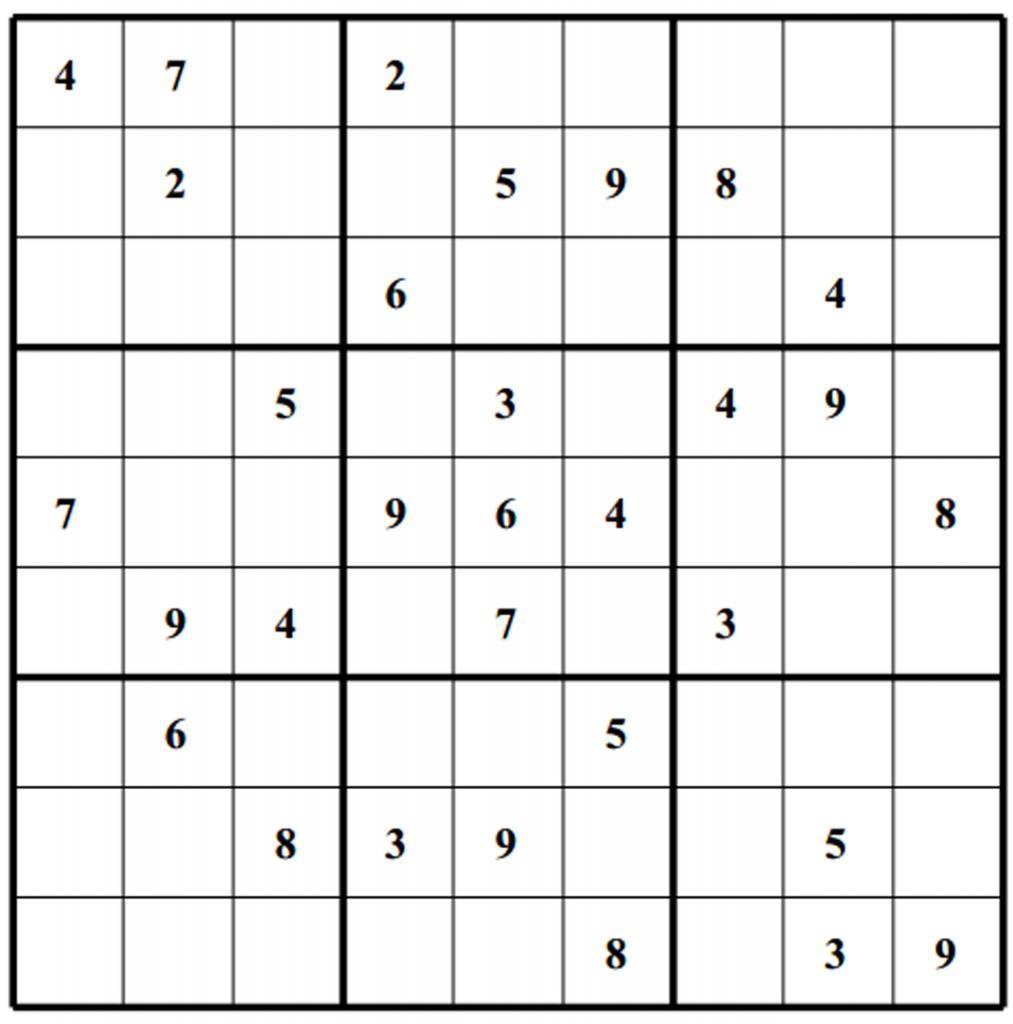 Blank Sudoku - Canas.bergdorfbib.co | Printable Sudoku Blank