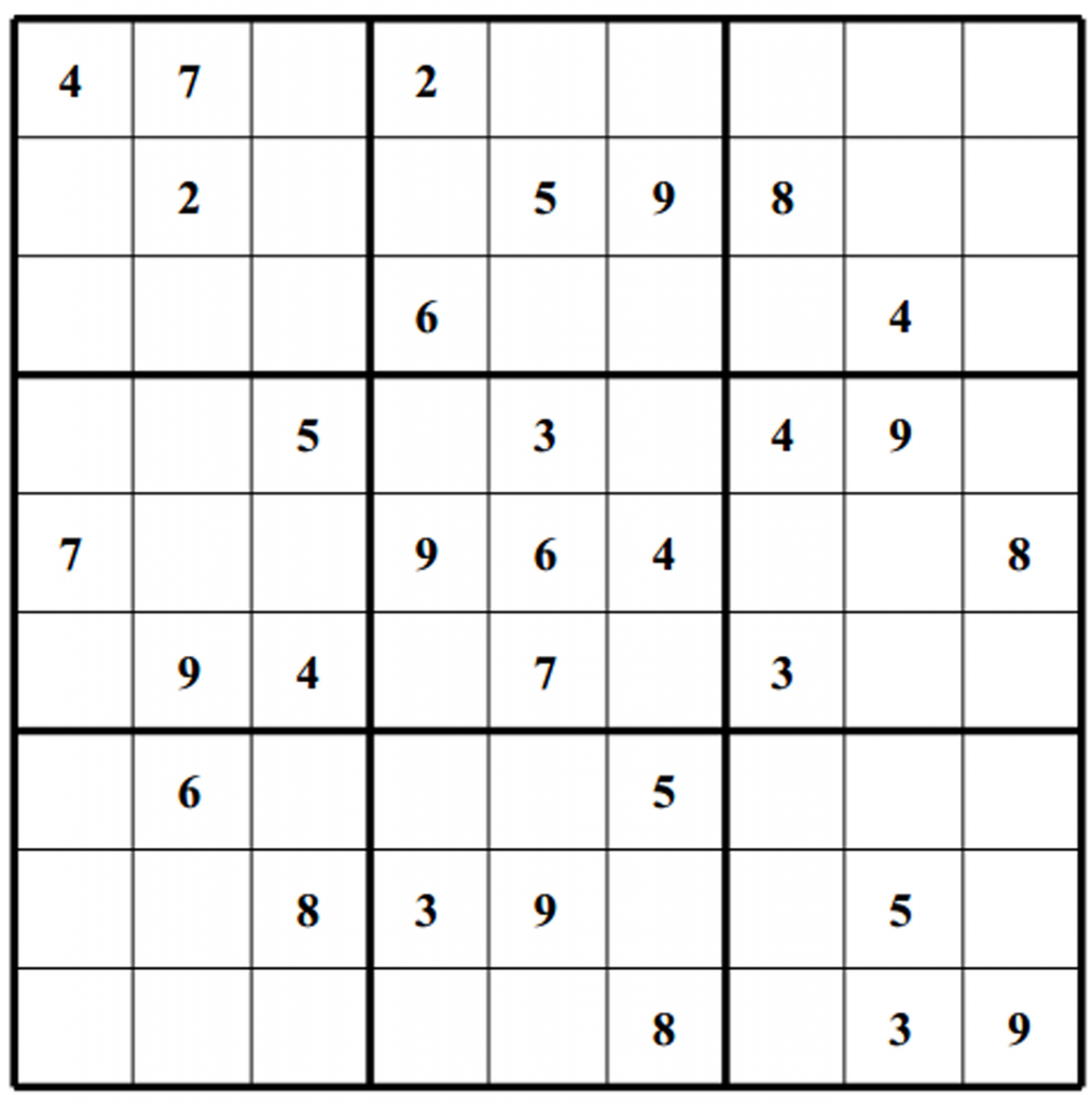 Blank Sudoku - Canas.bergdorfbib.co | Printable Sudoku Puzzles Pdf