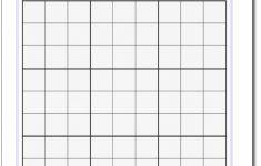 Printable Sudoku Grids Blank