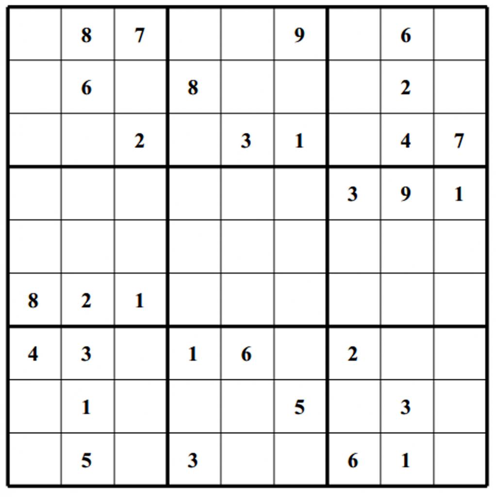 Blank Sudoku Grids - Canas.bergdorfbib.co | Printable Crazy Sudoku