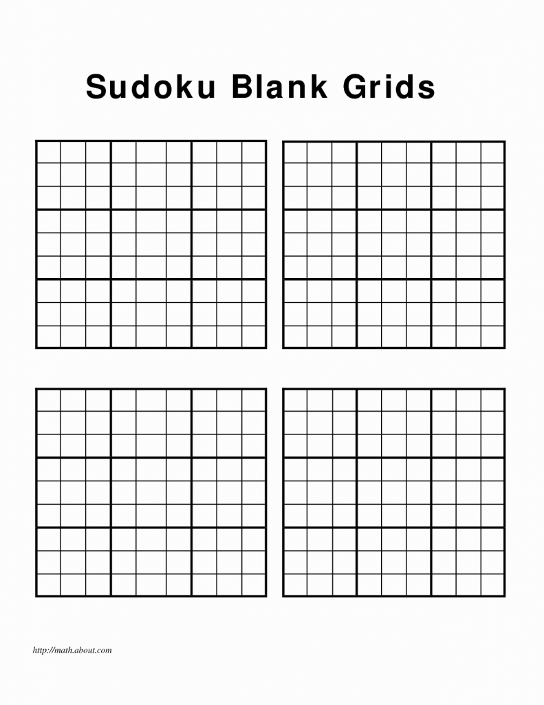 Blank Sudoku Grids - Canas.bergdorfbib.co | Printable Sudoku Grids 2 Per Page
