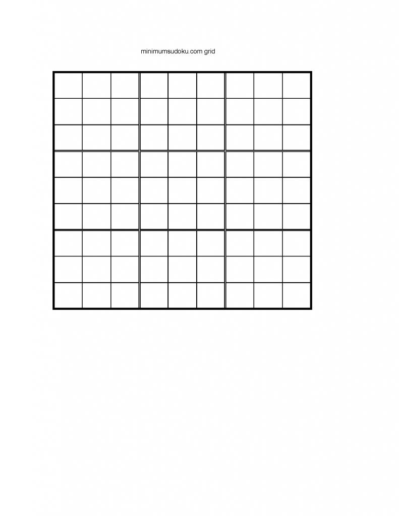 Blank Sudoku Grids - Canas.bergdorfbib.co | Printable Sudoku Grids Blank 4 Per Page