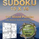 Bol | Large Print Sudoku 16 X 16, Peter Minnick | 9781541293717 | Printable Sudoku 16*16