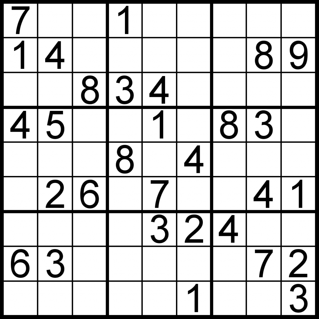 Bulletin Edition – Sudoku Of The Day | Printable Sudoku Diabolical Puzzles