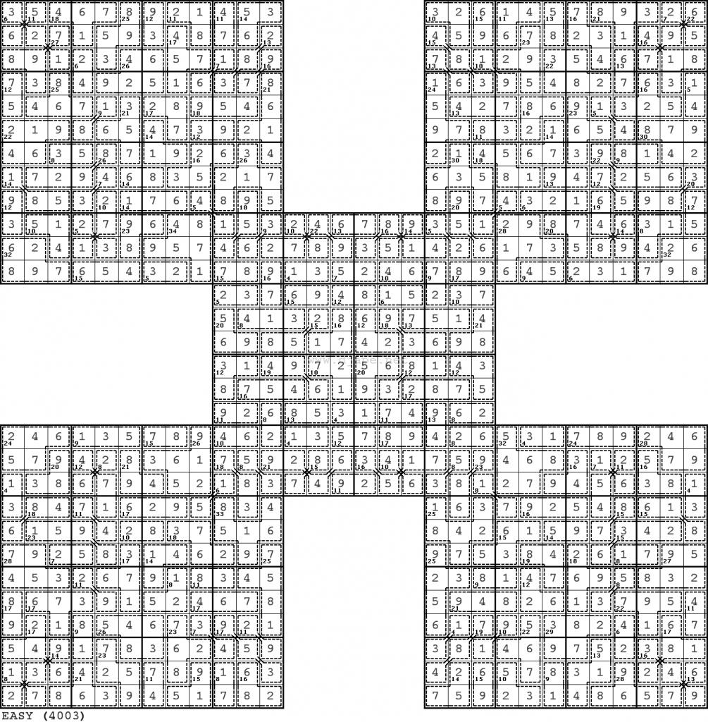 Butterfly Killer Samurai Sudoku (#3 I Think) | Printable Samurai Sudoku With Answers
