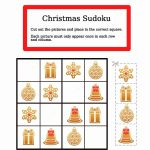 Christmas Easy Picture Sudoku Worksheet | Free Printable Puzzle Games | Printable Sudoku Christmas