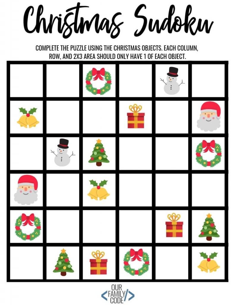 Christmas Sudoku Logical Reasoning Activity For Kids | Printable Christmas Sudoku Puzzles