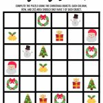 Christmas Sudoku Logical Reasoning Activity For Kids | Printable Sudoku Christmas