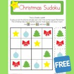 Christmas Sudoku | Teaching Ideas | Learning Games, Sudoku Puzzles | Printable Christmas Sudoku Puzzles