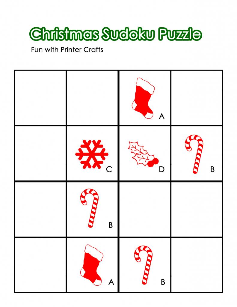 Christmas Worksheets And Printables For Homeschooled Kids - Fun With | Printable Sudoku Christmas