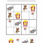 Circus Sudoku {Free Printables}   Gift Of Curiosity | Printable Children's Sudoku Free