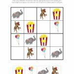 Circus Sudoku {Free Printables}   Gift Of Curiosity | Printable Kid Sudoku Puzzles