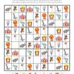 Circus Sudoku {Free Printables} | Material 1   Circus Crafts, Sudoku | Printable Sudoku Kids