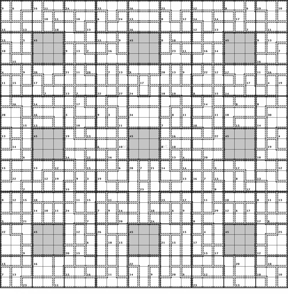 Clueless Killer Sudoku #2 | Printable Killer Sudoku