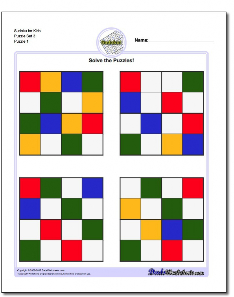 Color Sudoku Printable - Homesecurityla | Printable Color Sudoku