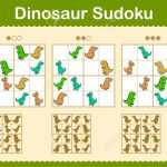 Colorful Sudoku Puzzles With Cartoon Dinosaurs In Three Levels | Printable Sudoku Puzzles Hard Cliparts