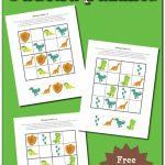 Dinosaur Sudoku Puzzles {Free Printables}   Gift Of Curiosity | Free Printable Thanksgiving Sudoku
