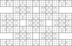 Printable Samurai Sudoku Medium