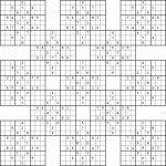 Double Harakiri Sudoku X | Printable Sudoku Samurai Hard