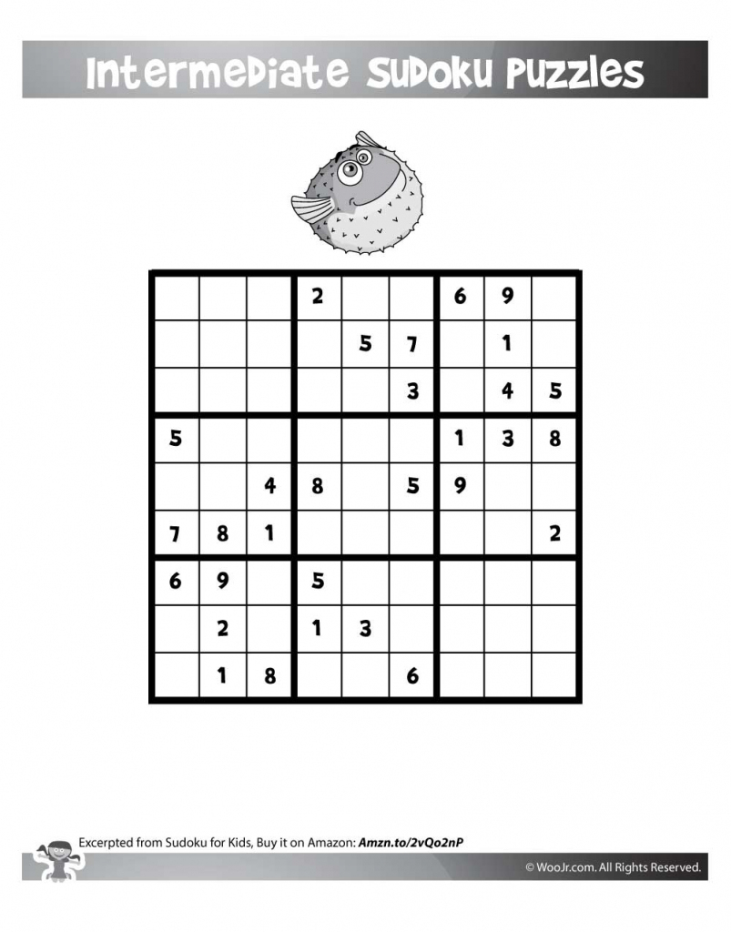 Easy 9X9 Sudoku Puzzles | Woo! Jr. Kids Activities | Printable Alphabet Sudoku