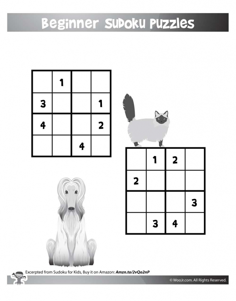 Easy Beginner Sudoku Puzzles For Kids | Woo! Jr. Kids Activities | Printable Elementary Sudoku Puzzles