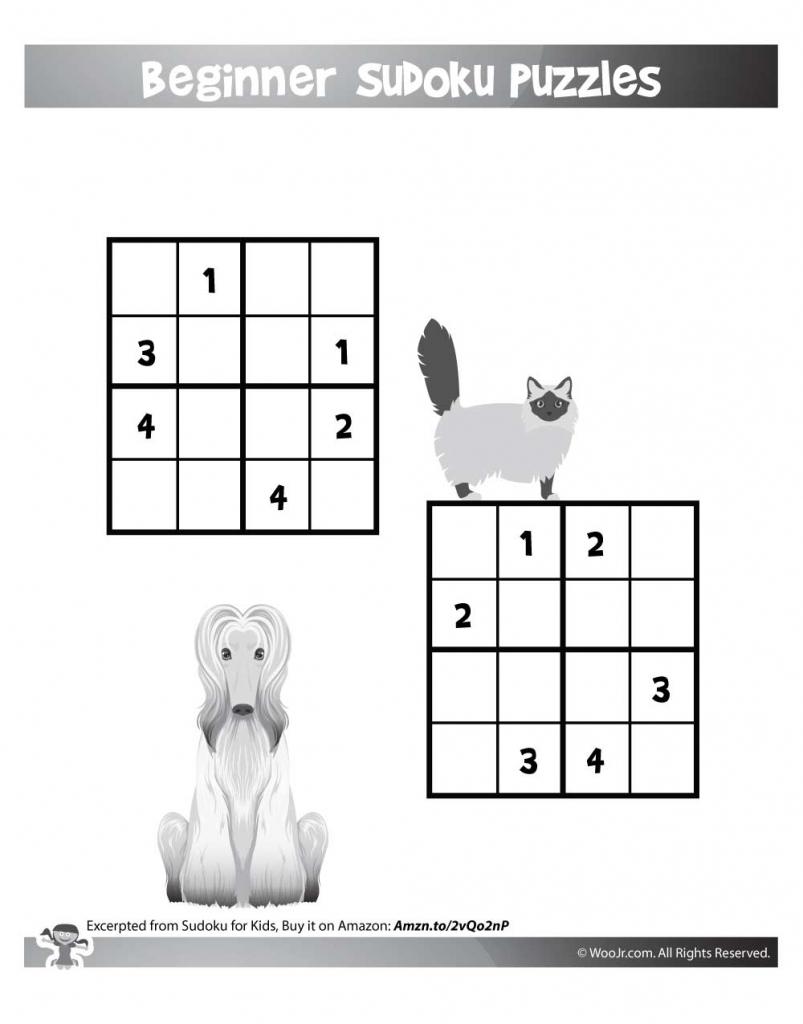 Easy Beginner Sudoku Puzzles For Kids | Woo! Jr. Kids Activities | Printable Sudoku Puzzles Kids