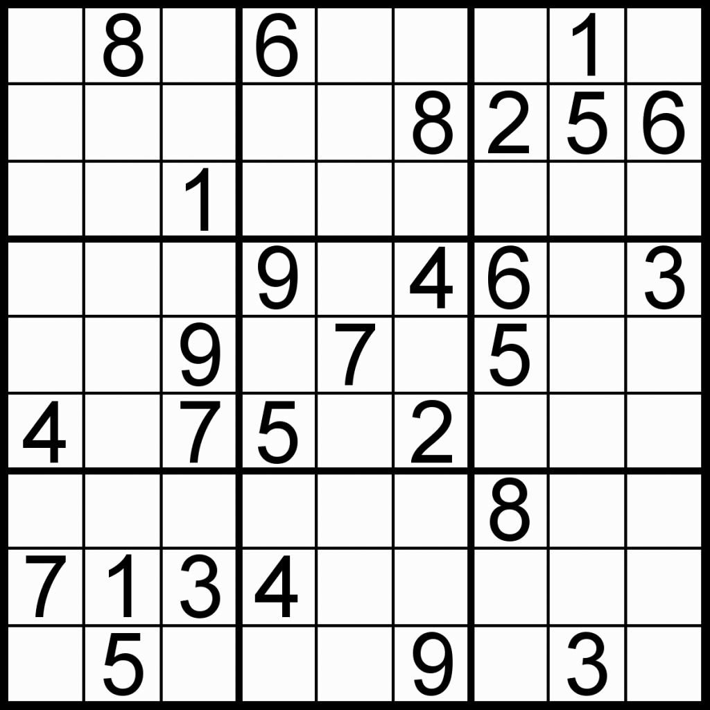 Easy Printable Sudoku – Rtrs.online | Printable Sudoku Easy 6X6