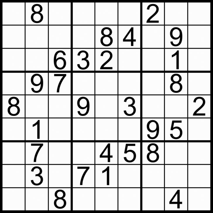 Printable Sudoku Very Easy